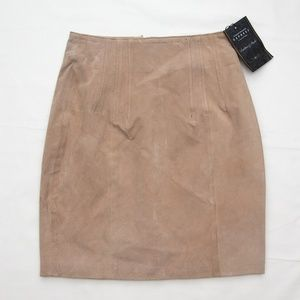 """Express 3/4 suede Leather mini Skirt size 7 8 19"""""""